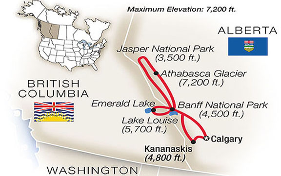 Best-of-the-Canadian-Rockies-with-Tauck-Tour-Map