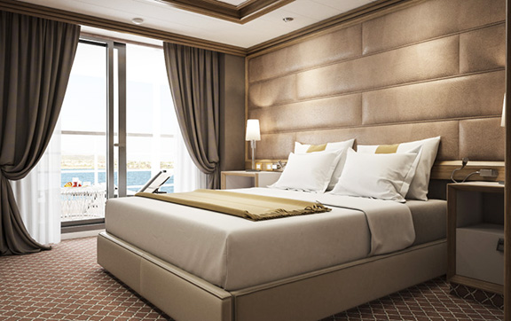 The Owners Suite onboard Silver Muse
