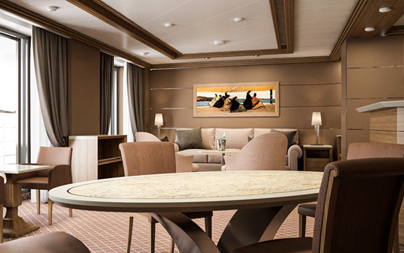 The Royal Suite Onboard Silver Muse