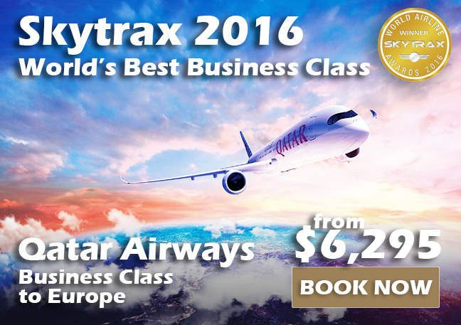 Qatar Airways - Skytrax Best Business Class 2016 from $6,295