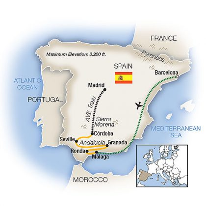 a-week-in-spain-tauck-itinerary-map