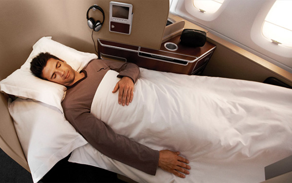 Fly in the lap of luxury with Qantas Airlines First Class