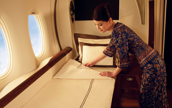 Enjoy your own private suite in Singapore Airlines First Class
