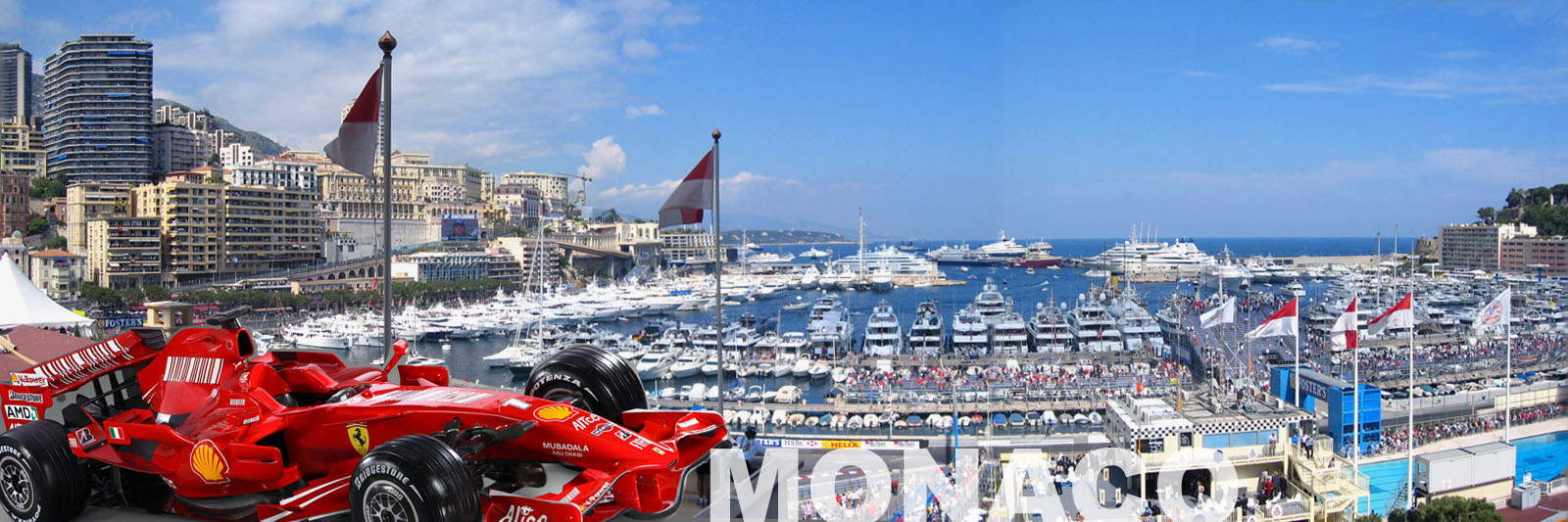 Monaco Harbour during Formula One Grand Prix