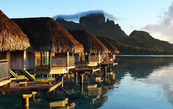 Exterior of Island Luxury Over_Water Bungalow, Sofitel Bora Bora Private Island Resort