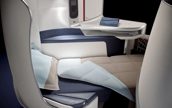Air France Business Class Bed