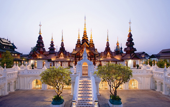 Resplendent Soaring Facades and Towers at Dara Devi Chang Mai