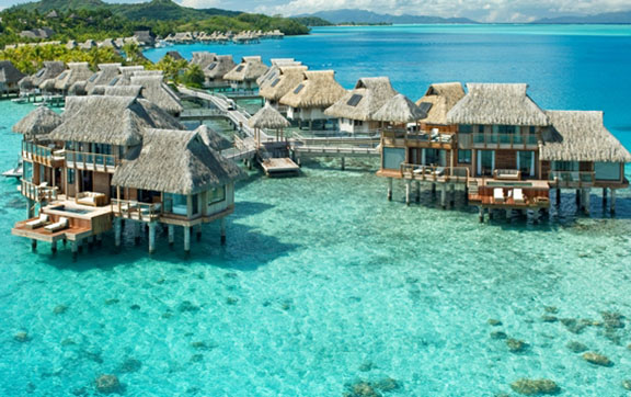 Luxury Overwater Bungalows at Hilton Bora Bora Nui