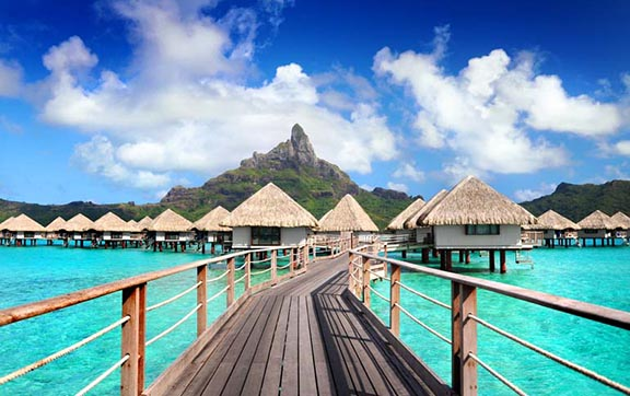 Over-water Luxury Bungalows at Le Meridien Bora Bora