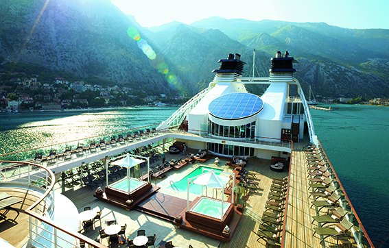 Pool Deck Onboard with Seabourn