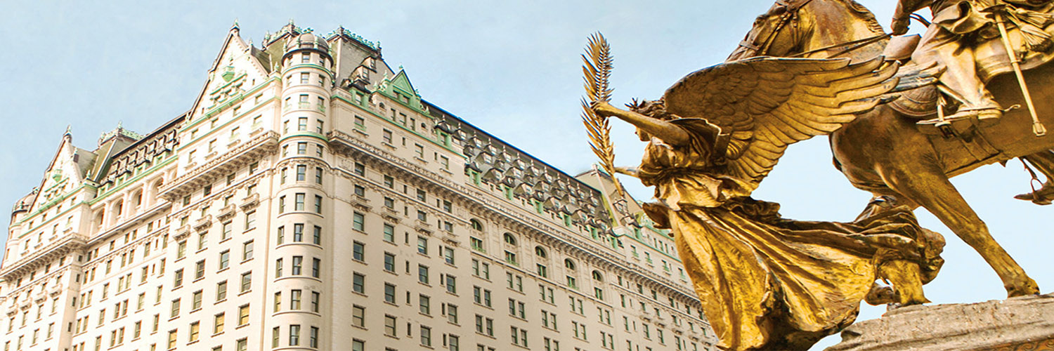 The exterior of The Plaza Hotel, New York, USA
