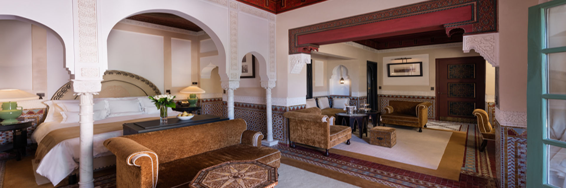Suite Agdal, Room 144.  La Mamounia Hotel, Marrakech, Morocco. Photo by Alan Keohane www.still-images.net for La Mamounia