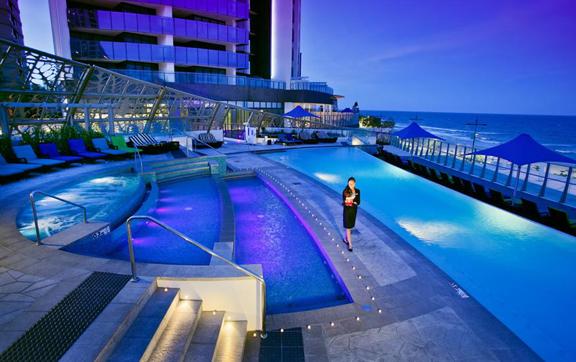 Luxury travel accommodation, Soul Gold Coast, pool
