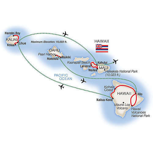 the-best-of-hawaii-tauck-itinerary-map