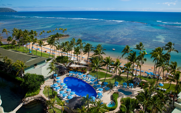 kahala resort pool, birds eye view