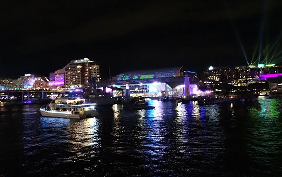 View of the Maritime Museum Lit up by Vivid