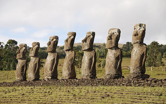 Easter Island Statues in Chile