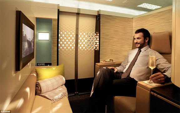 Etihad Airways Business Class Studio