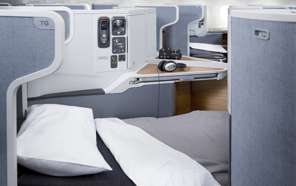American Airlines Business Class Bed