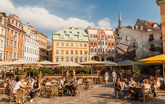 Cafes in the Old Town of Riga