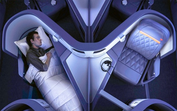 Delta Airlines Business Class bed