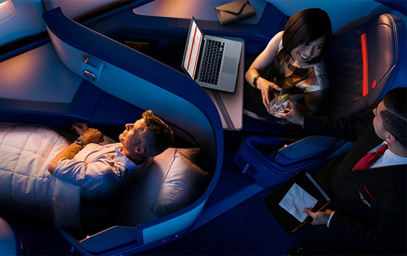 Delta Airlines Business Class service