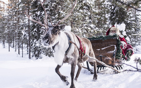 Santa in his traditional home in Lapland