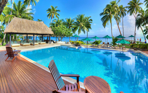 Jean Michel Cousteau Resort, pool, swimming, jean michel resort, luxury tavel fiji, fijian islands