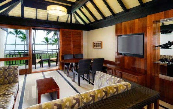 westin-denarau-island-resort-fiji-oceanfront-villa-living-room,  the westin denarau resort and spa fiji