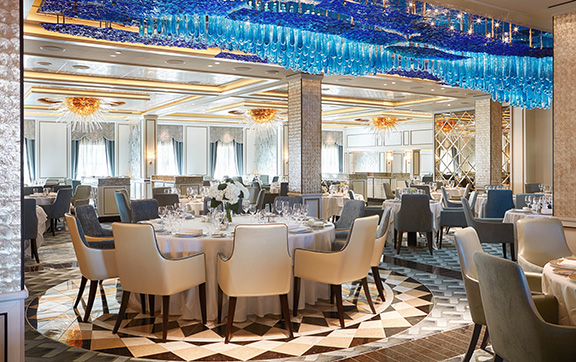 The Compass Rose Restaurant onboard Regent
