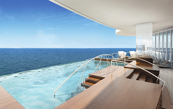 The Spa Infinity Pool onboard Regent