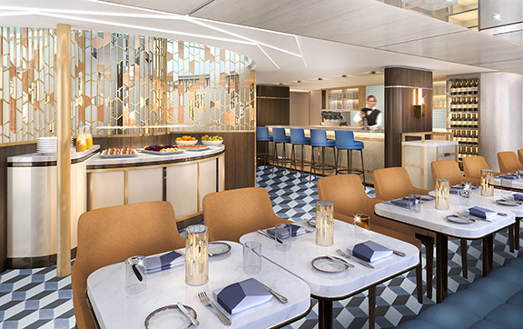 The Bistro onboard Crystal Bach