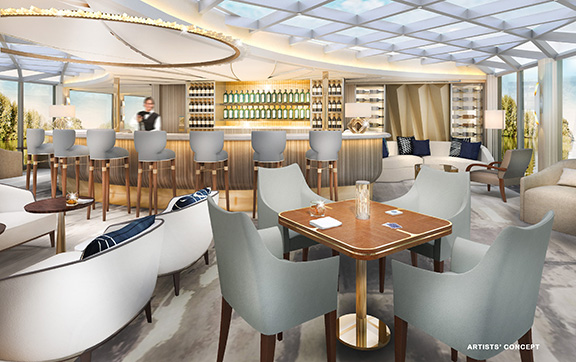 Palmcourt Bar onboard the Crystal bach