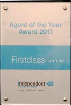 independent travel group agent of the year 2013