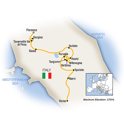 week-in-florence-and-umbria-tauck-tours-map