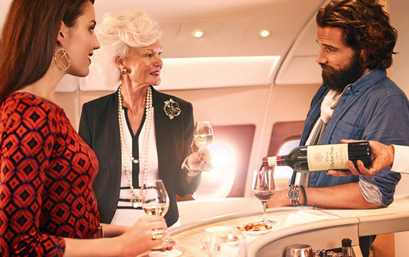 Emirate Wine Onboard Lounge