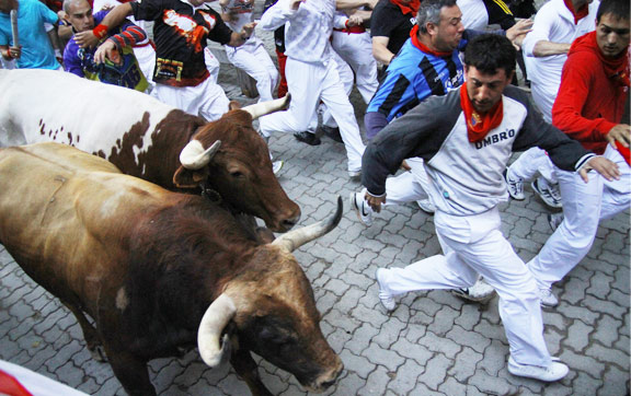 San Fermin - Running of the Bulls, Pamplona, Spain
