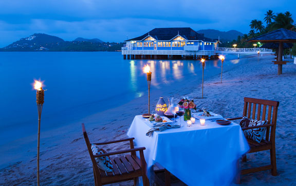 Sandals Halcyon Beach-dining