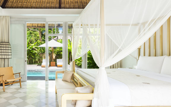 Como uma ubud firstclass for Garden pool villa ubud
