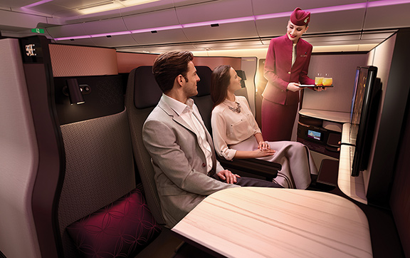 Service in Qatar's New Business Class