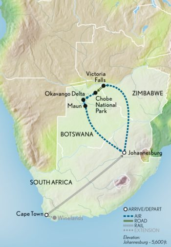 southern-africa-by-rail-and-boat-13-days-with-abercrombie-and-kent-map