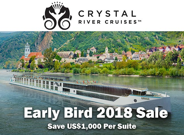 Crystal Cruises EarlyBird Sale