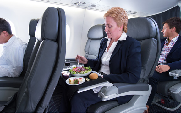 The jets feature a two-class cabin with 12 First Class seats and 64 seats in the Main Cabin.