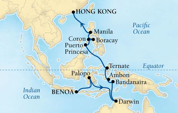 Bali to hong kong on seabourn sojourn firstclass bali to hong kong seabourn gumiabroncs Image collections