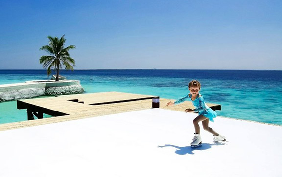 Jumeirah Vittaveli Launches a Maldives First Ice Rink