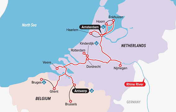 Discover the Netherlands and Belgium with Uniworld